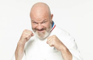 photo de philippe etchebest en attitude de boxeur